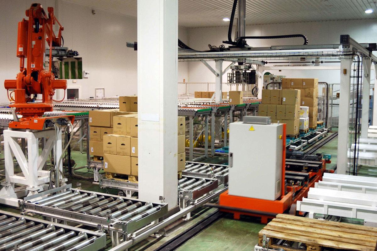 Automatización lineas de paletizado en Valladolid